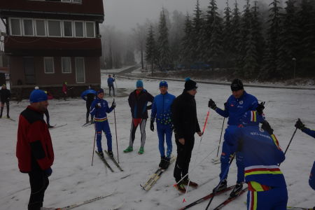 First skiing, power trining with professional coach and regeneration
